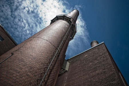 tall chimney: Very Tall Chimney with a Steel Ladder going up there