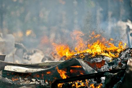 Beeld van Heat veroorzaakt door een zeer hete vuur maken luchtbeweging effect