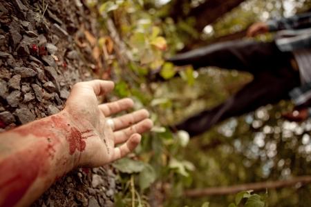 hemorragias: Hombre asesinado Foto de archivo