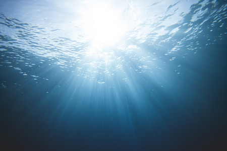 Underwater Rays of Light Scene