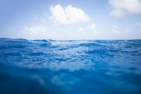 under the surface: In the middle of the Ocean Stock Photo