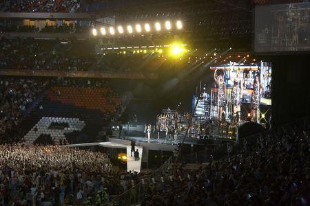 donbass: Donetsk, Ukraine - 29 August 2009 Grand Show - Donbass arena stadium, opening in Donetsk