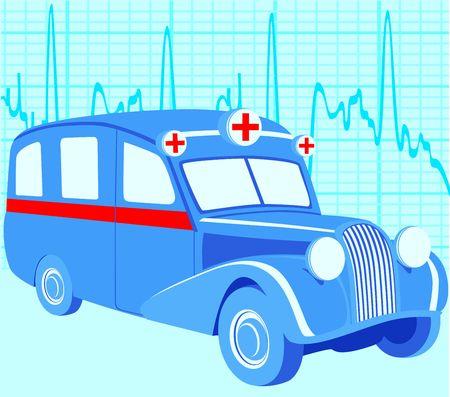 Viejo coche de ambulancia  Foto de archivo - 6752879