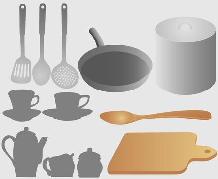 tablespoon: Set of kitchen accessories