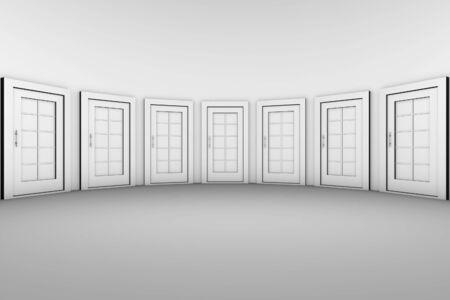 many doors: Many Doors in the oval room.