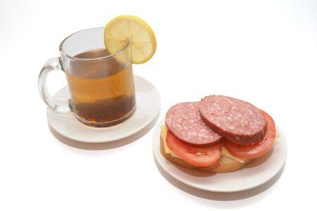 tea and sandwich photo