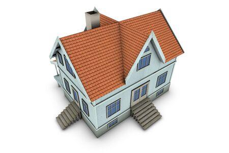 New family house. 3d illustration, isolated on white background illustration