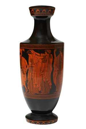 greek vase. Isolated on white,  photo