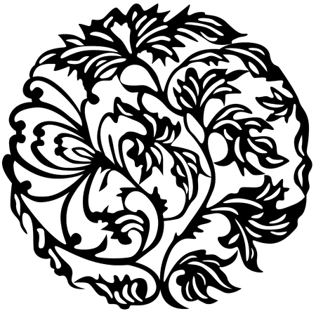 Flower tattoo. Vector