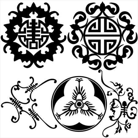 set of floral elements Stock Vector - 6839436
