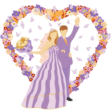 Wedding pair. Insert your person. Stock Vector - 6850328