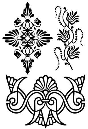 set of floral elements Stock Vector - 6839494