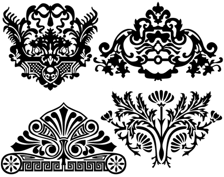 set of floral elements Stock Vector - 6839526