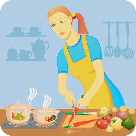 boils: The housewife makes a dinner