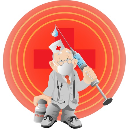 The doctor with a vaccine and a syringe Stock Vector - 6839537