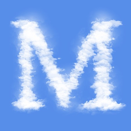 letter m: Clouds in shape of the letter M