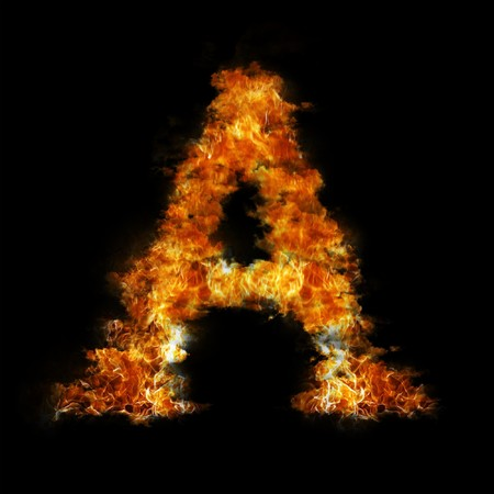 smoky black: Flame in shape of letter A