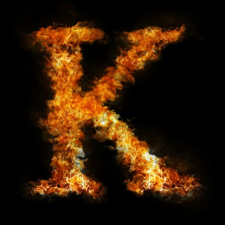 Flame in shape of letter K photo