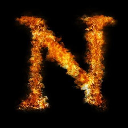 Flame in shape of letter N Stock Photo - 6994830