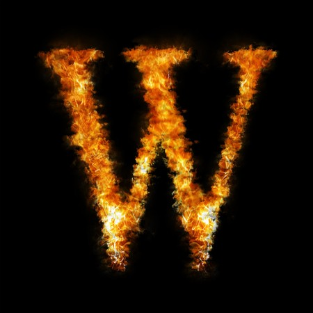 Flame in shape of letter W photo