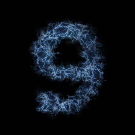Lightning in shape of figure nine photo
