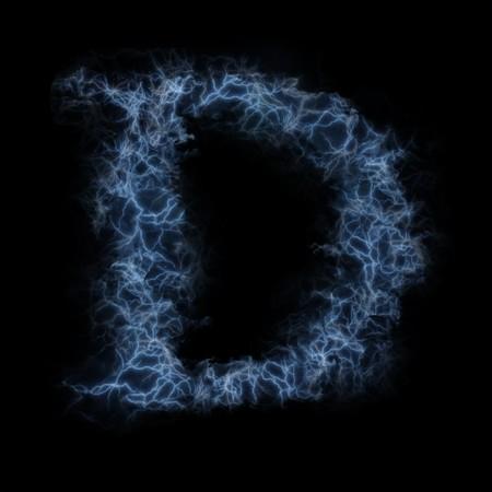 Lightning in shape of the letter D photo