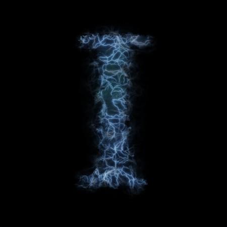 Lightning in shape of the letter I photo