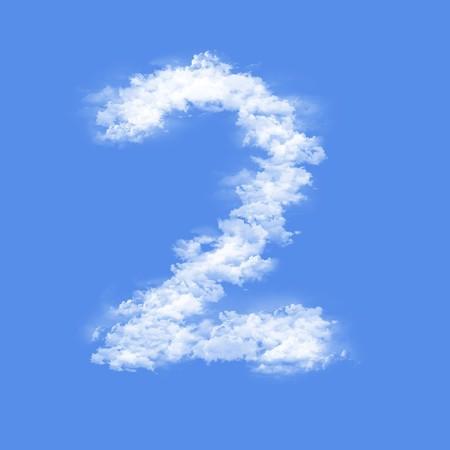 clouds in shape of figure
