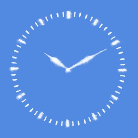 Clouds in shape of Clock face photo