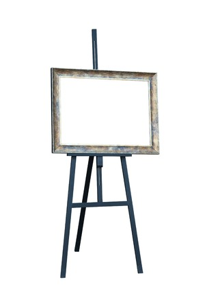 Easel. Isolated on white  photo