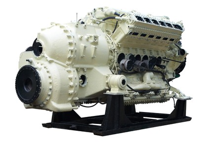 Big internal combustion engine.  photo