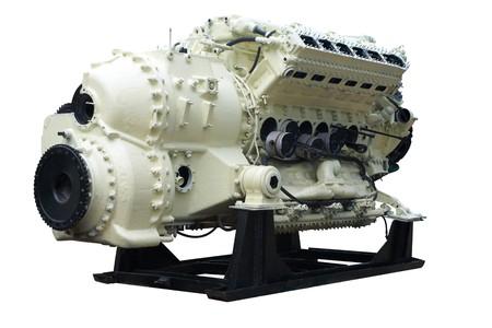 Grote interne verbrandings motor.  Stockfoto