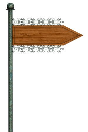 Pointer direction on street pole Stock Photo - 8390520