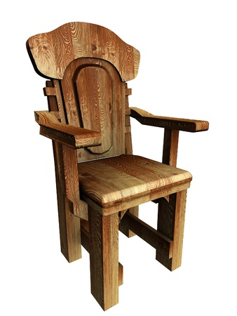 Old wooden stylish chair Stock Photo - 8390515