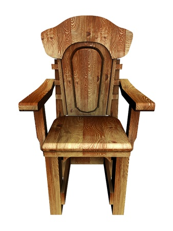 Old wooden stylish chair  photo