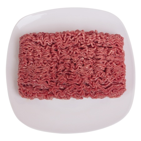 minced: Raw ground beef Stock Photo