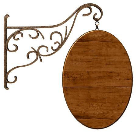 placa bacteriana: Se�al de madera vieja. Aislados en blanco