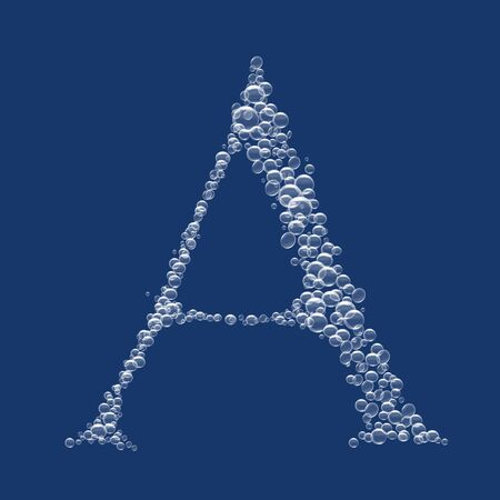 A Letter created from bubbles in water 免版税图像