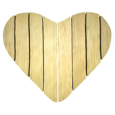 Heart shape from Wooden planks photo