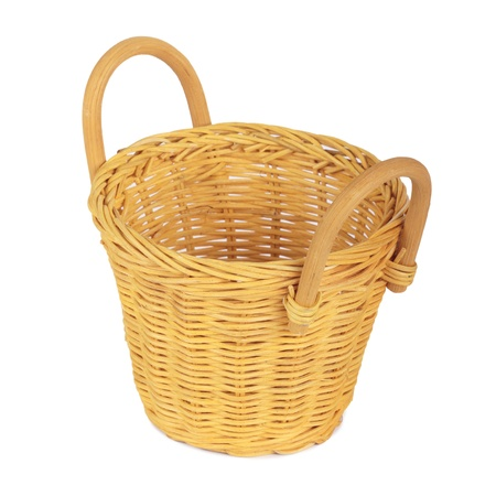 Basket. Isolated on white photo