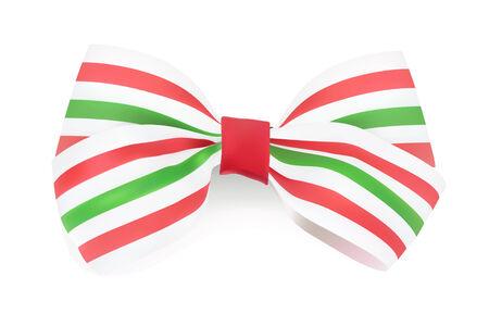 Tri-color Striped bow. Vector illustration