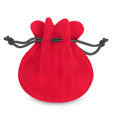 Red velvet sack. Vector illustration Stock Vector - 24508315