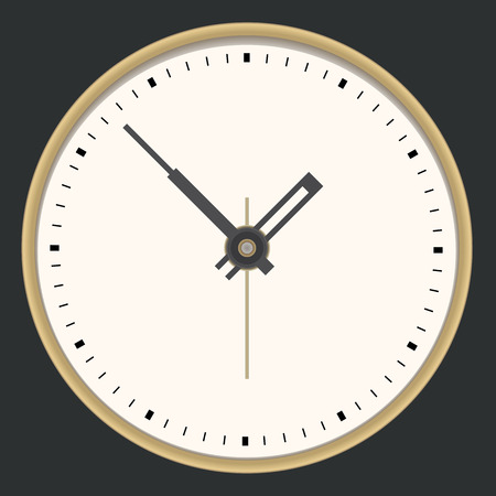 Golden clock. Vector illustration Vector