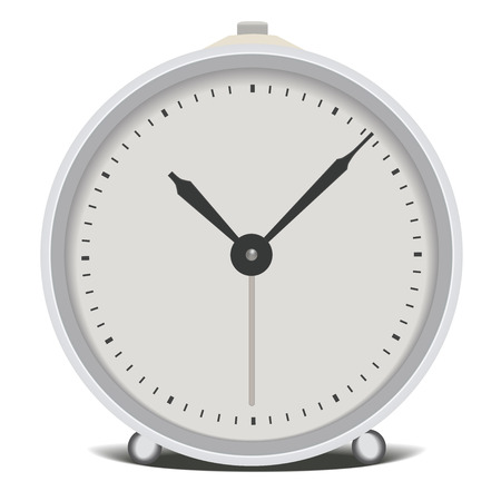 Silver clock. Vector illustration Vector