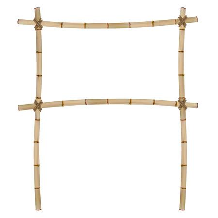 Frame of old bamboo sticks.  Illustration