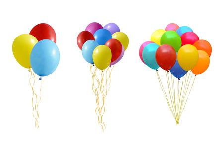 ballon: An illustration of a set of colourful balloons