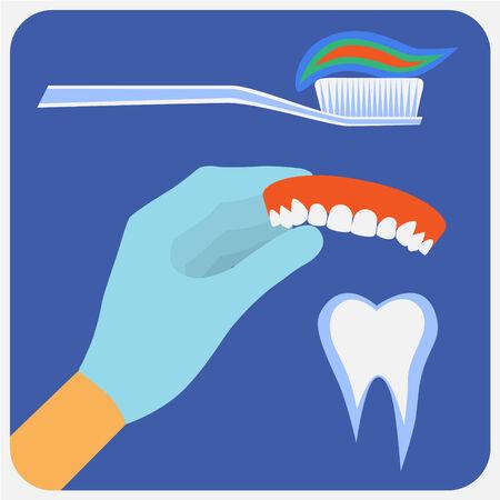 gimlet: Flat dental instruments set design concept background. Vector illustration Illustration