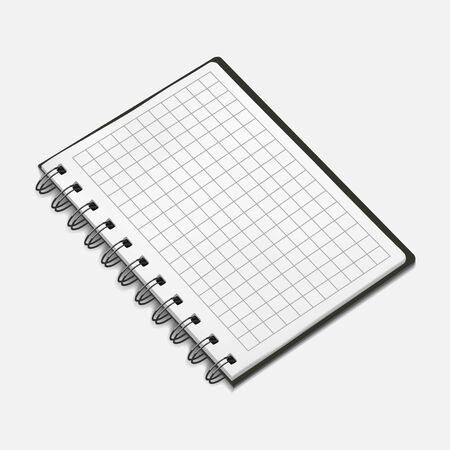 spiral notebook: Vector illustration of spiral notebook