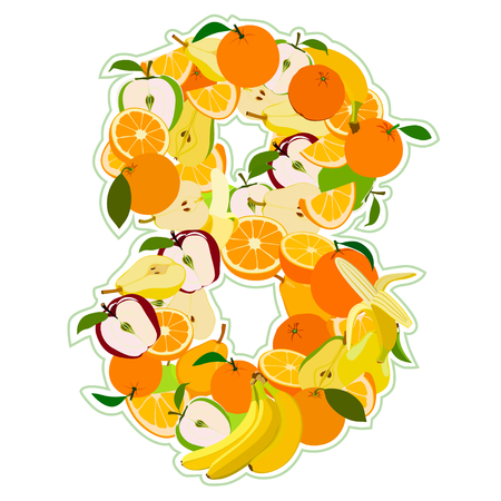 pear shaped: Juicy fruit in the form of number 8