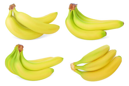Set of Bananas. Realistic Vector illustration. Isolated on white background Vector